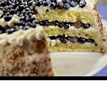 Gâteau aux bleuets et fromage